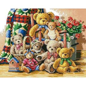Diamanttavla Teddy Family 50x70