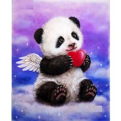 Diamanttavla (R) Panda Love 30x40 - Leveranstid 1-3 Dagar
