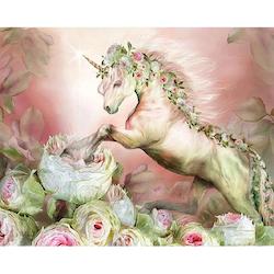 Diamanttavla Unicorn Rose 40x50
