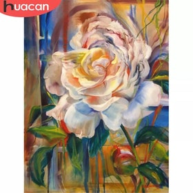 SNART I BUTIK - Diamanttavla Flower Artwork 1 50x70