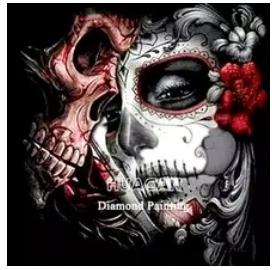 Diamanttavla Demon And Beauty 50x50
