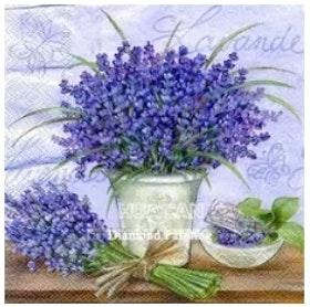 Diamanttavla Lavendel I Vas 40x40