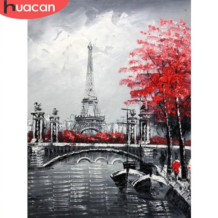 SNART I BUTIK - Diamanttavla (R) Eiffeltower Art 50x40