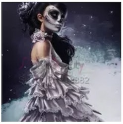 Diamanttavla Skull Lady 40x50