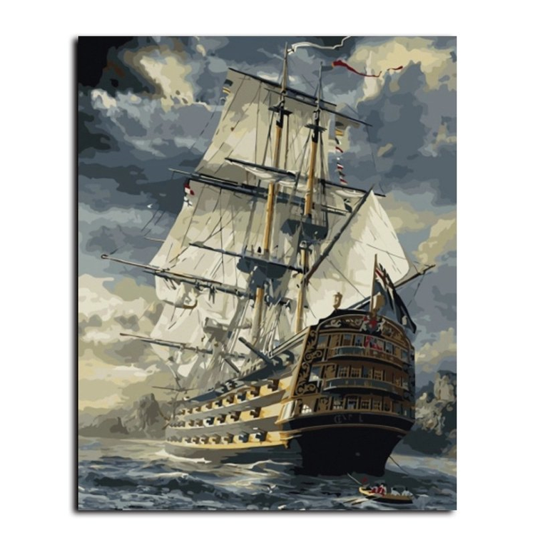 Paint By Numbers Ship 40x50