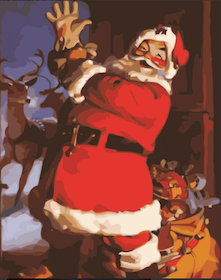 Paint By Numbers Happy Santa 40x50