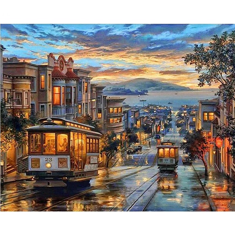 Paint by Numbers Street Night 40x50