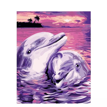Paint By Numbers Dolphin Love 40x50
