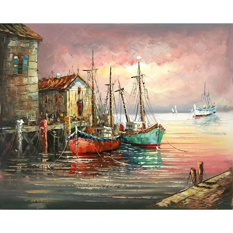 Paint By Numbers Hamn 40x50