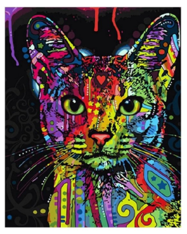 Paint By Numbers Symbol Cat 40x50