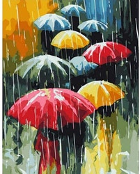 Paint By Numbers Umbrellas 40x50