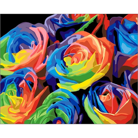 Paint By Numbers Colorful Roses 40x50