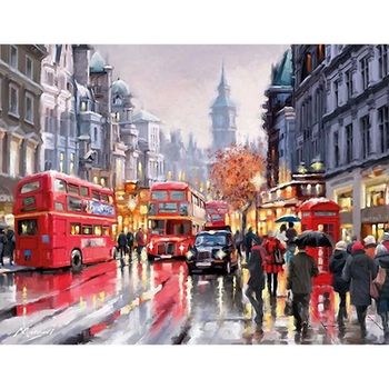 Paint By Numbers London Walking 40x50