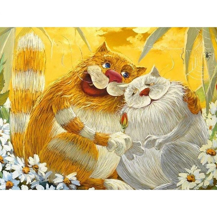 Paint By Numbers Happy Cats  40x50