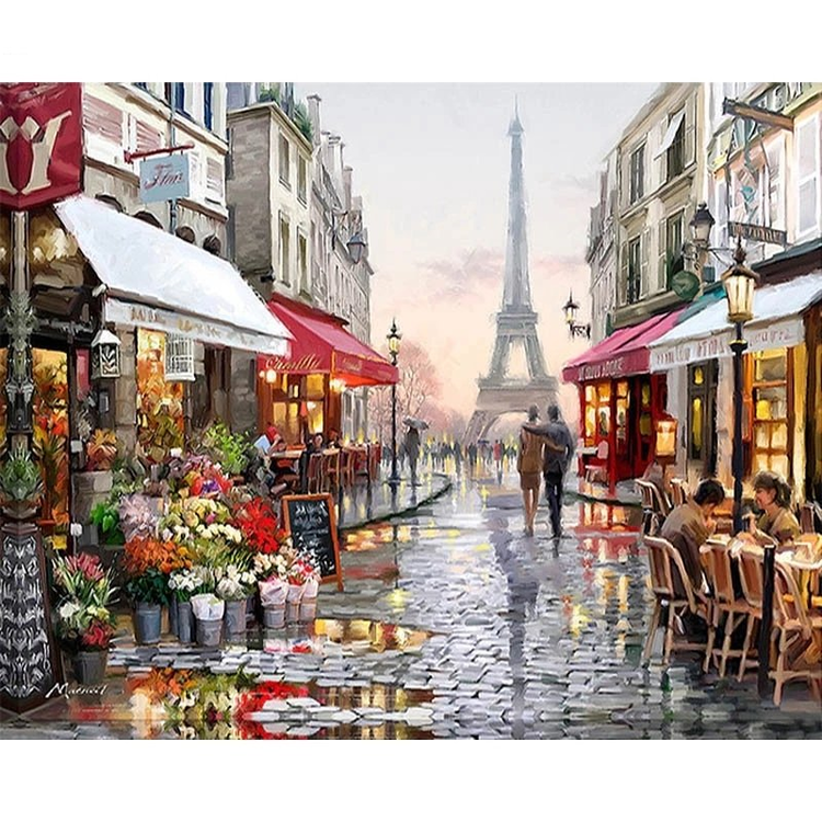 Paint by Numbers Paris Walking 40x50