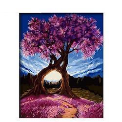 Paint By Numbers Romantic Trees 40x50 - Leveranstid 1-3 Dagar