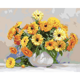 Paint By Numbers Yellow Daisys