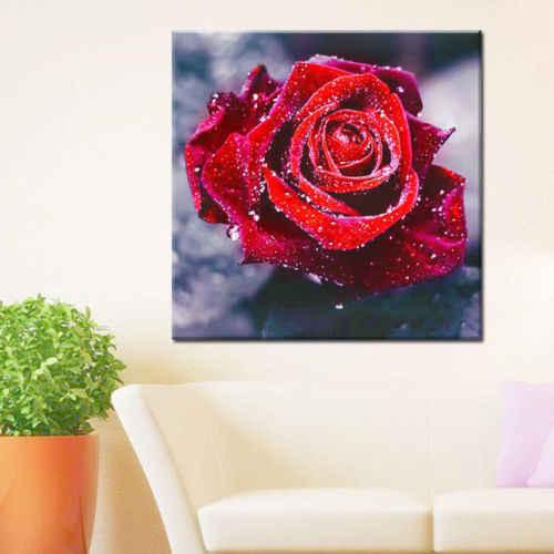 Diamanttavla Beautiful Rose 30x30