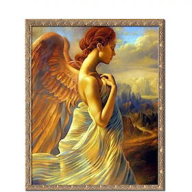 Diamanttavla Angelwoman 40x50