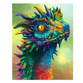 Diamanttavla (R) Color Dragon 40x50