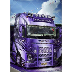 Diamanttavla (R) Purple Truck 40x50