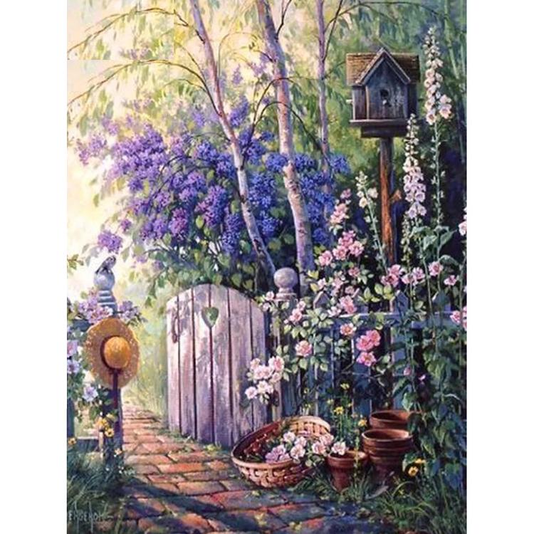 Diamanttavla (R) Garden Door 50x70