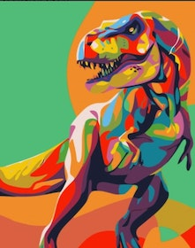 Paint By Numbers Color Dinosaur 40x50