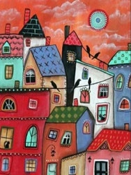 Paint By Numbers Funny Houses  40x50