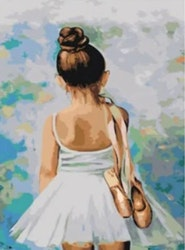 Paint By Numbers Ballerina Girl  40x50