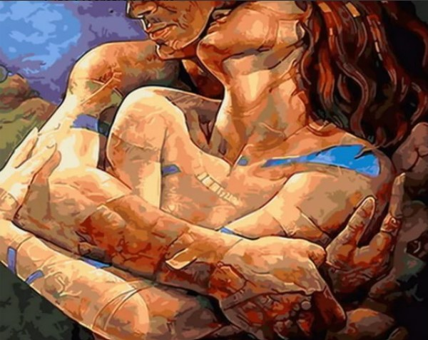 Paint By Numbers Love Couple  40x50
