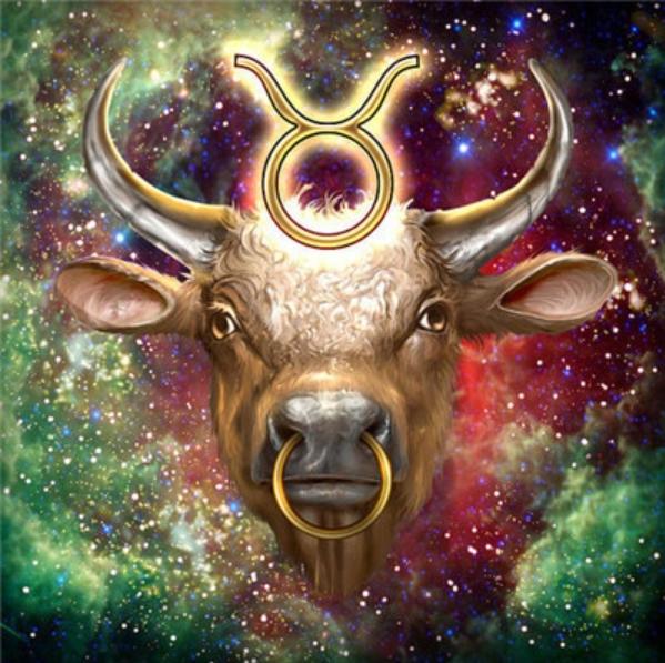 Diamanttavla Stjärntecken Oxen 40x40 - Leveranstid 1-3 Dagar