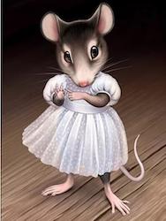 Diamanttavla Girl Mouse 30x40