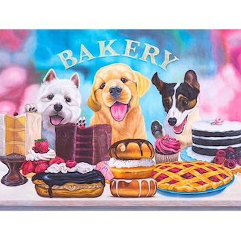 Diamanttavla Dog And Cake 50x70