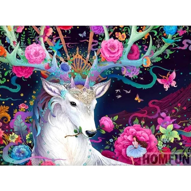 Diamanttavla (R) Fantacy Deer 50x70