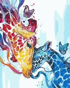 Paint By Numbers Giraff Kärlek 40x50