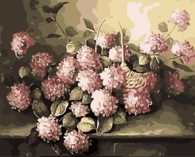 Paint By Numbers Blommor I Korg 40x50