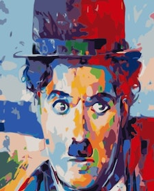 Paint By Numbers Charlie Chaplin 40x50