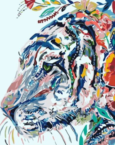 Paint By Numbers Tiger Allmoge 40x50