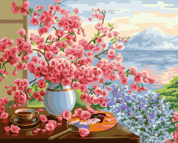 Paint By Numbers Cherryflowers 40x50