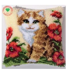 Ryakudde Cat And Flowers 43x43