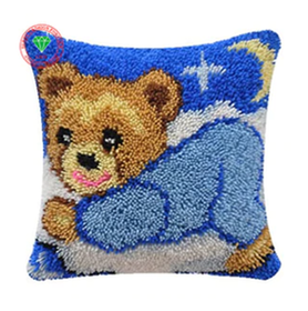 Ryakudde Bear Needlework Pillowcase  43x43