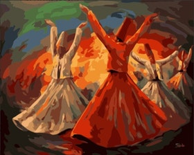 Paint By Numbers Oriental Dancing 40x50