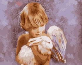 Paint By Numbers Angelboy And Rabbit 40x50