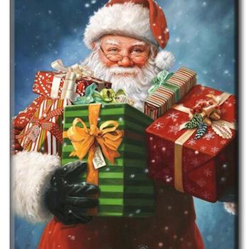 Diamanttavla Santa With Christmasgifts 40x50 - Leveranstid 1-3 Dagar