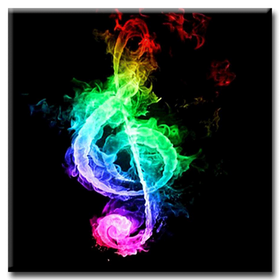 Diamanttavla Music 40x40