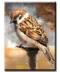 Diamanttavla (R) Sparrow Bird 30x40