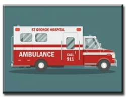 Diamanttavla Brittish Ambulance 40x50