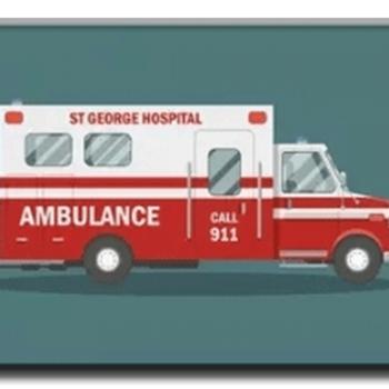 Diamanttavla Brittish Ambulance 40x50