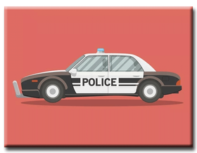 Diamanttavla Brittish Policecar 40x50