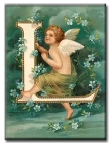 Diamanttavla (R) Angel Letter L 40x50